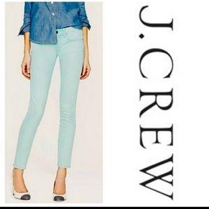 J. Crew Classic Mint Blue Toothpick Cordoroy Jeans